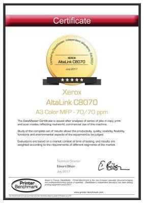 Xerox AltaLink C8000 Series Earns 5 Stars! | Image Source