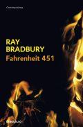 Cubierta novela Fahrenheit 451 de Ray Bradbury