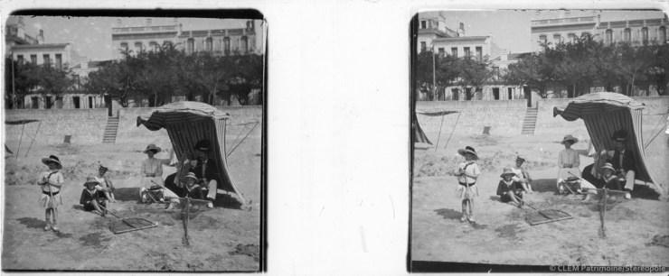 Images stéréoscopiques plaque de verre Royan