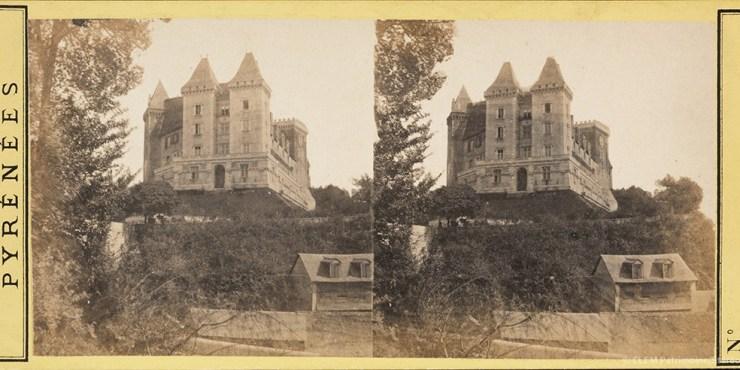 Images stéréoscopiques Bertrand Alexandre Pau Château