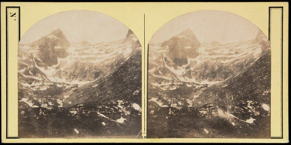 Images stéréoscopiques Burgard Eugène Vignemale 1864