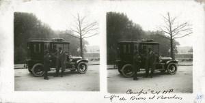 images stéréoscopiques voiture ancienne coupé dion bouton