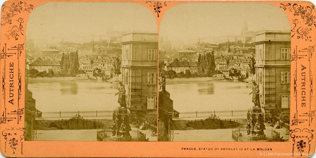 images stéréoscopiques Adolphe Block Autriche Prague