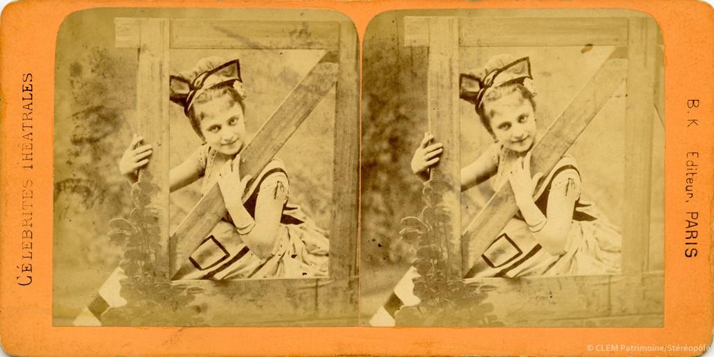 images stéréoscopiques Adolphe Block Célébrités Théâtrales Juliette Beaumaine