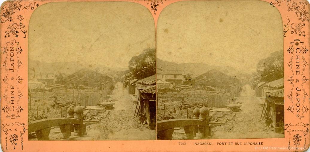 images stéréoscopiques Adolphe Block Chine et Japon Nagasaki