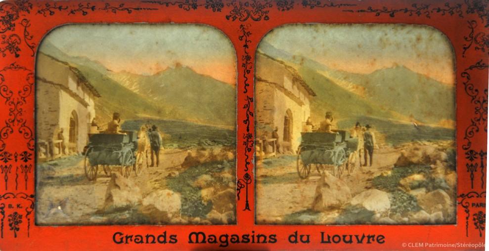 images stéréoscopiques Adolphe Block Grands Magasins du Louvre Andrieu Jean