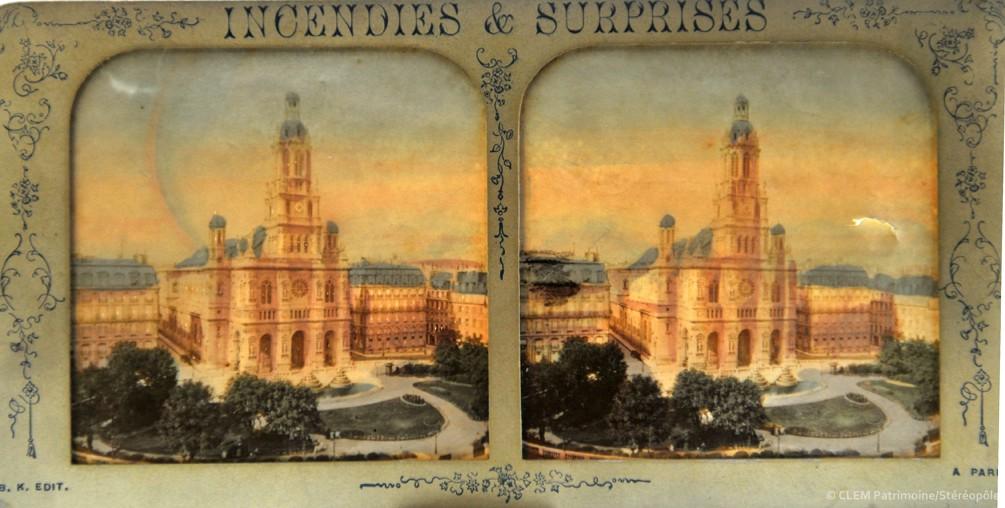 images stéréoscopiques Adolphe Block Incendies et Surprises