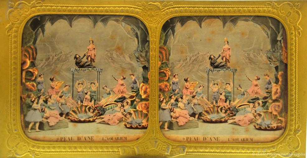 images stéréoscopiques Adolphe Block Les théâtres de Paris Peau d'Âne