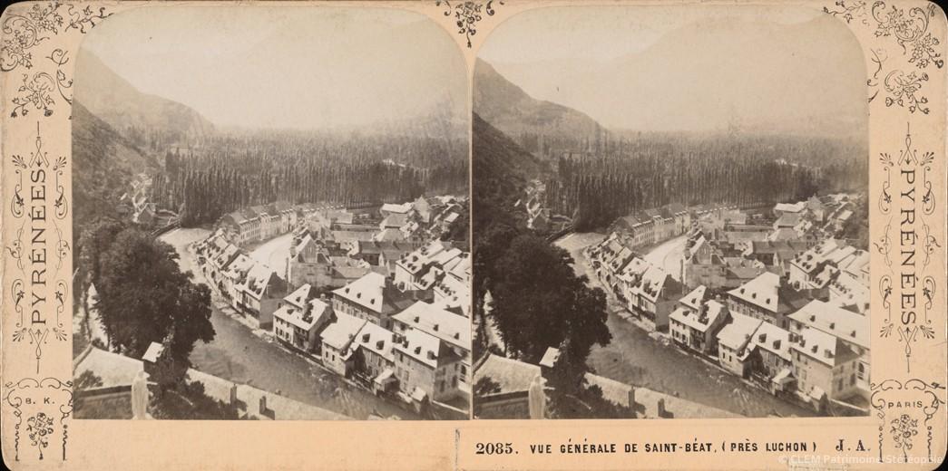 Images stéréoscopiques Jean Andrieu Pyrénées Saint-Béat Adolphe Block