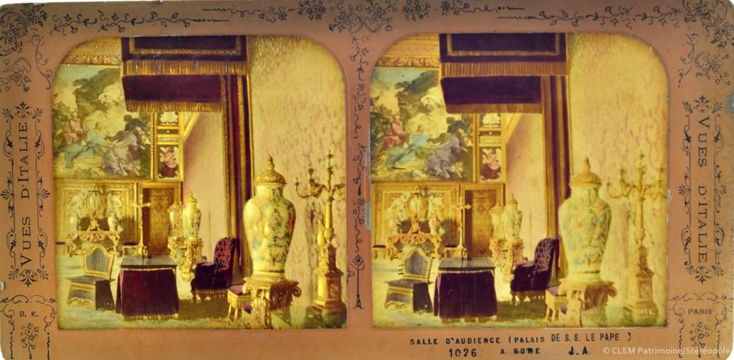 Images stéréoscopiques Vues d'Italie Jean Andrieu Adolphe Block Vatican