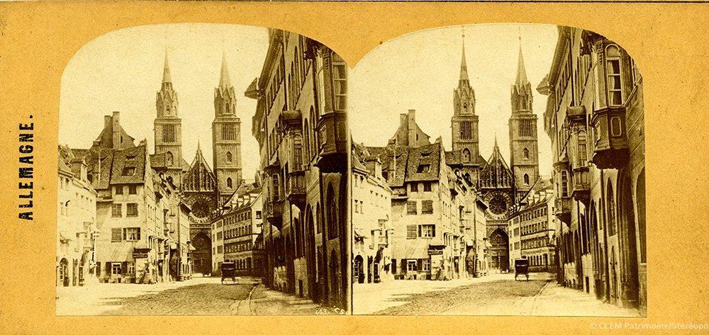 images stéréoscopiques Clouzard & Soulier Nuremberg Allemagne 1859