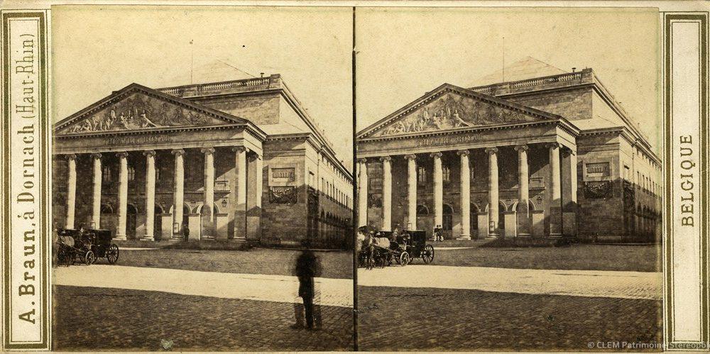 Images stéréoscopiques Bruxelles Théâtre de la Monnaie Adolphe Braun