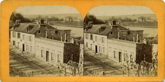Images stéréoscopiques Persan Oise Château de la Soie