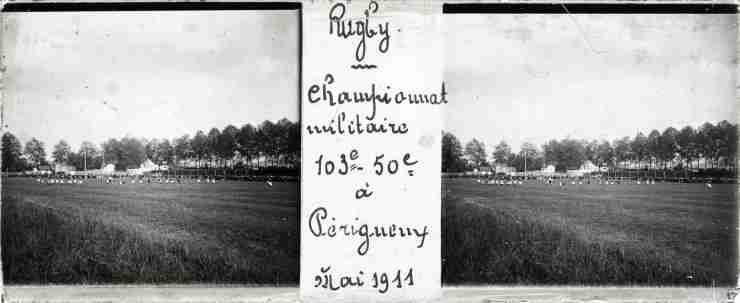 Périgueux, match de rugby entre le 50e et le 103e Régiments d