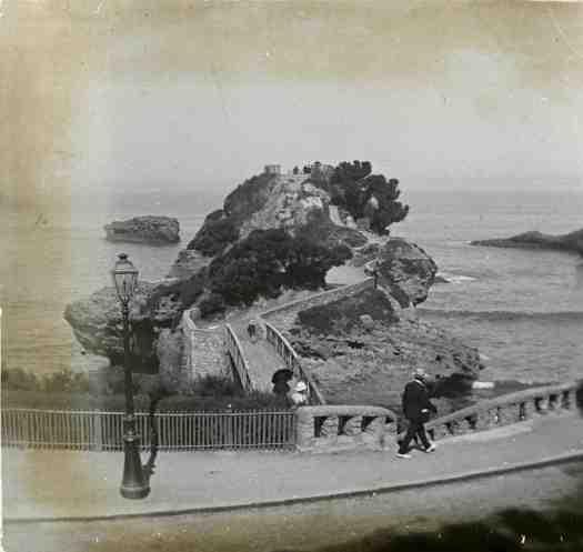 Vue du rocher du Basta à Biarritz
