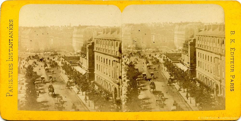 Images stéréoscopiques Paris vues instantanées Adolphe Block