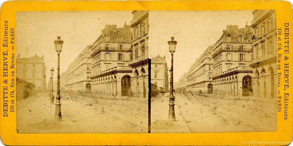 Images stéréoscopiques Debitte & Hervé Rue de Rivoli