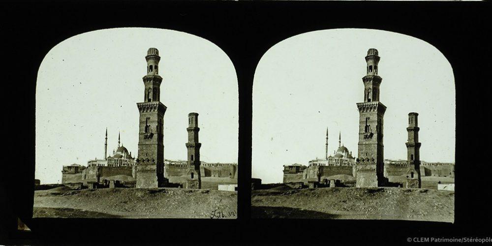 Images stéréoscopiques plaques de verre Francis Frith Le Caire
