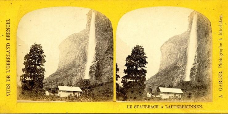 Images stéréoscopiques Gabler Johann Adam Lauterbrunnen