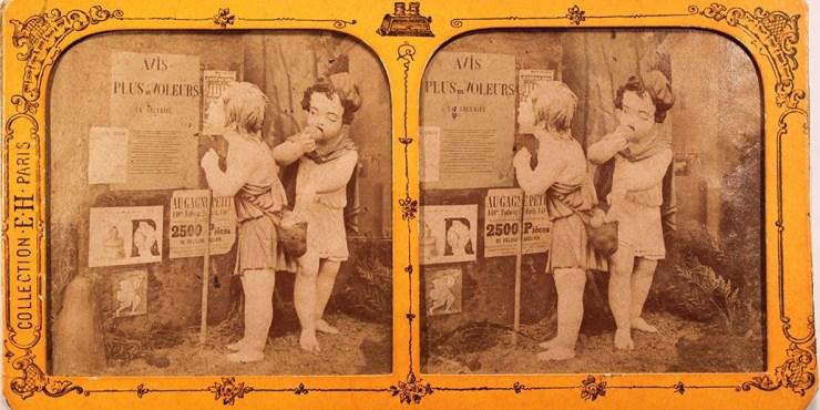 Images stéréoscopiques Jouvin Hippolyte Arts et métiers enfantins 1868