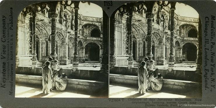 Images stéréoscopiques Keystone View Company Lisbonne monastère Sao Jeronymo