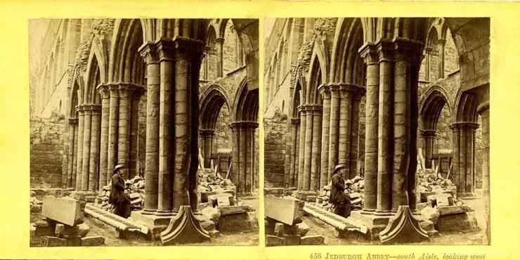 Images stéréoscopiques Ogle Thomas et Edge Thomas Jedburgh abbaye
