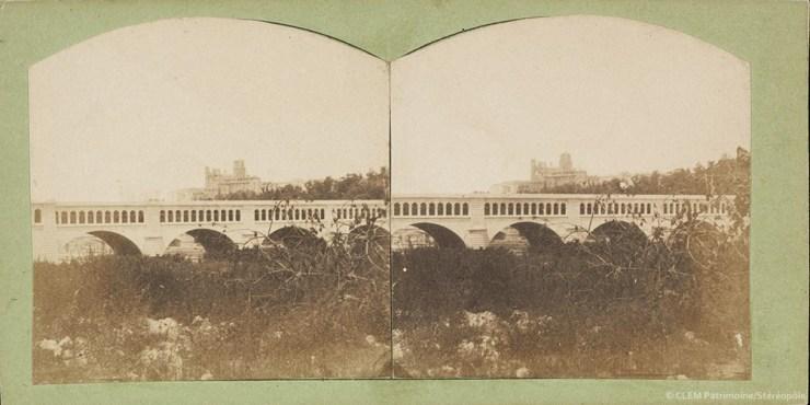 Images stéréoscopiques Quinet Alexandre Marie 1857 Béziers