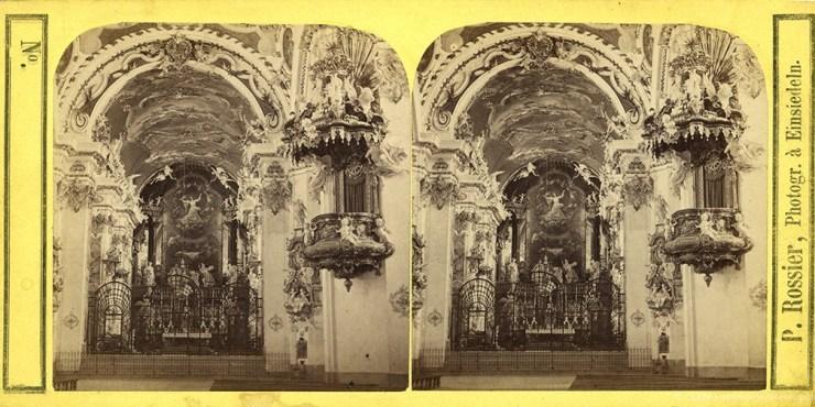 Images stéréoscopiques Rossier Pierre Fribourg Einsiedeln Abbaye