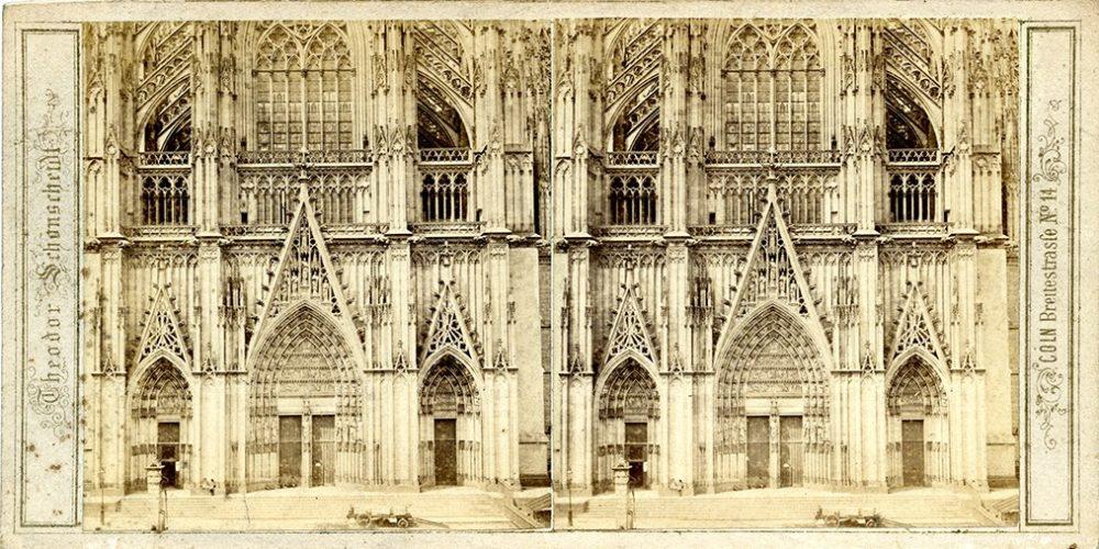Images stéréoscopiques Schonscheidt Theodor Cologne Cathédrale