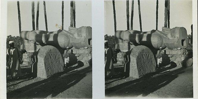 Images stéréoscopiques Sunbeam Tours London Dearden Holmes Le Caire Ramsès II