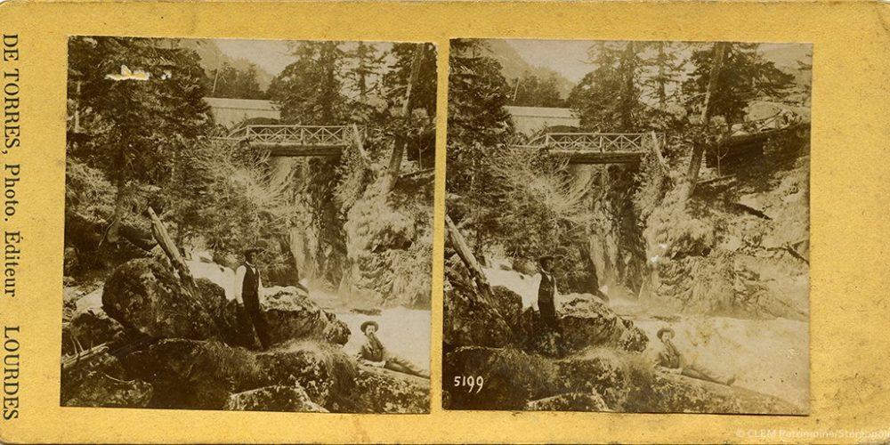 Images stéréoscopiques Torres de Miguel Cauterets Pont d'Espagne