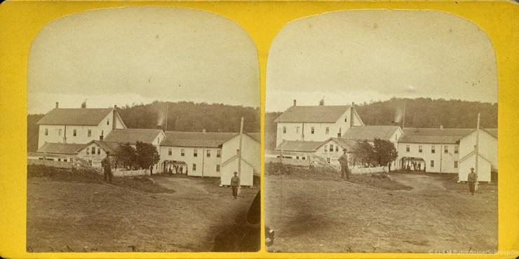 Images stéréoscopiques Tousley Saranac Lake 1865