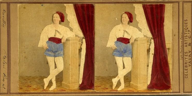 Images stéréoscopiques Vaury Louis Célébrités artistiques