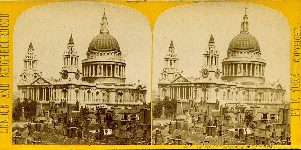 Images stéréoscopiques York Francis London and Neighbourhood Cathédrale Saint-Paul