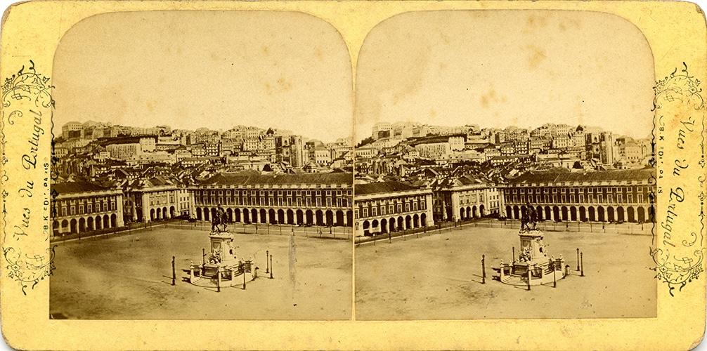 images stéréoscopiques Adolphe Block Vues Portugal Lisbonne