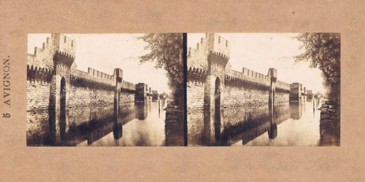 Images stéréoscopiques Baldus Edouard-Denis Avignon rempart