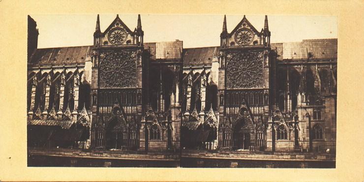 Image stéréoscopique Alexandre Notre-Dame Paris 1859