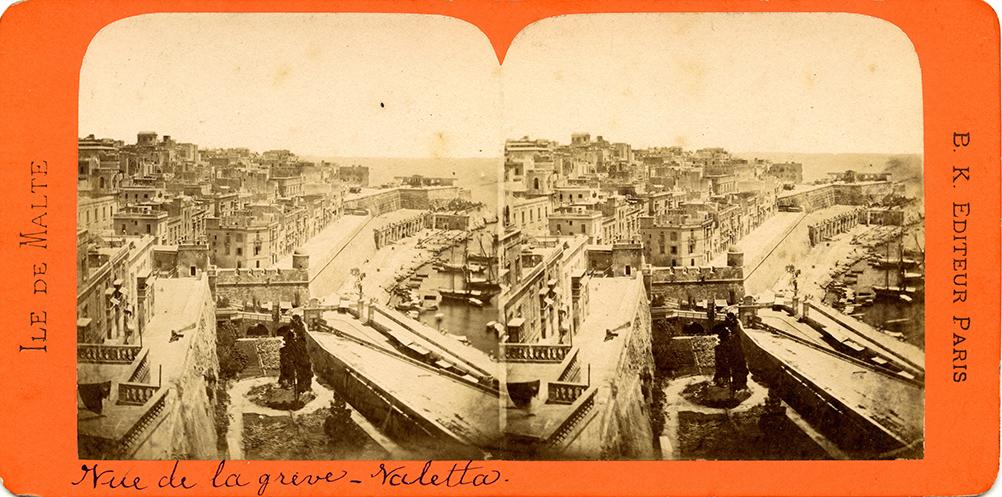 Images stéréoscopiques Ile de Malte Adolphe Block