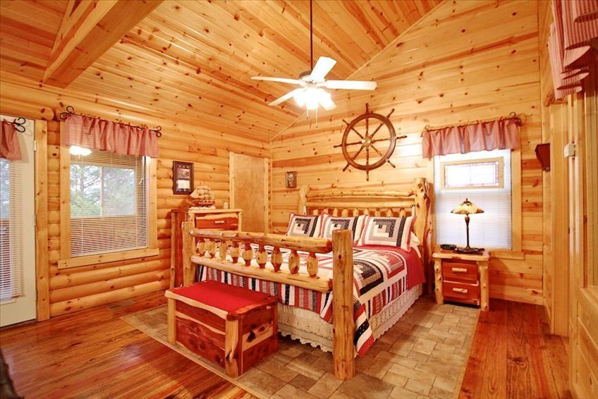 Luxury One BR Log Cabin The Constitution Cabin  VRBO