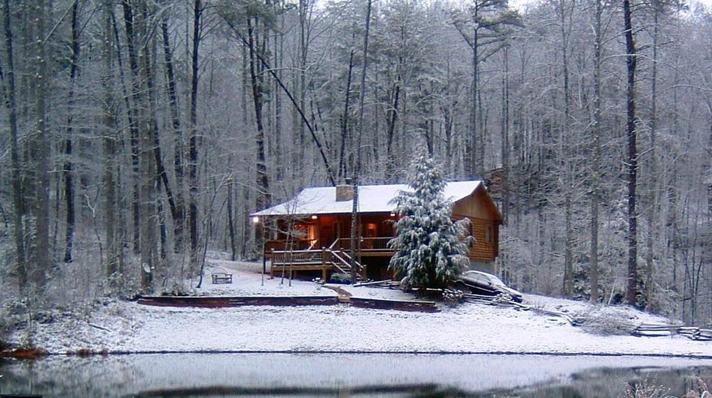 chair rental atlanta leather swivel chairs for living room mountain log cabin on spring fed lake - vrbo