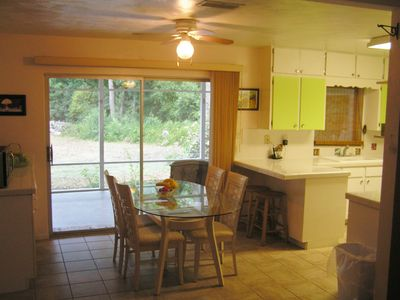 part of kitchen with view off lanai
