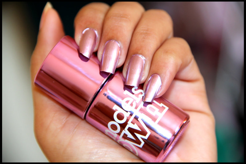 Models Own Colour Chrome Nail Polishes Chrome Cerise And Pink Review Swatch Silkyresh S