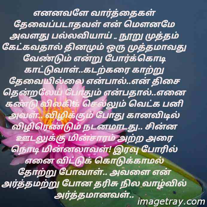 beautiful Tamil lines for love