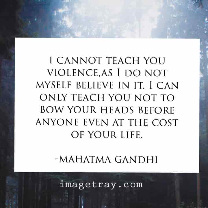 Gandhi say about successful life