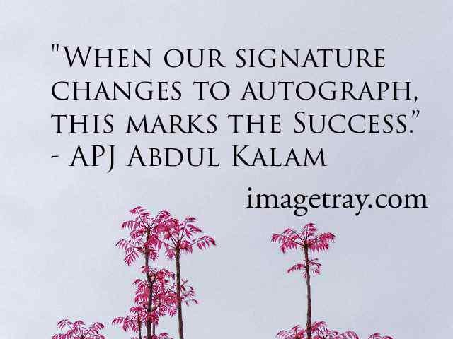 abdul kalam quotes about success