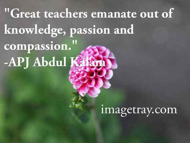 abdul kalam quotes for teachers