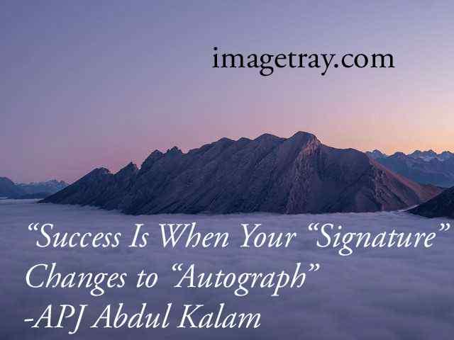 abdulkalam quotes on success