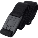 The best belt ever. It has no buckle buldge, is easily adjustable while you are wearing it, and it is comfortable. This is good for all body shapes.
