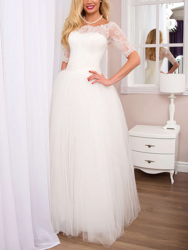 Sweet & Flow Tulle Unique Bridal Gown with Sleeves