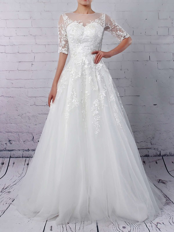 Elegant Ball Gown Dresses for Wedding with Sleeve